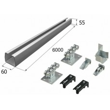Комплект для откатных ворот с балкой 60 х 55